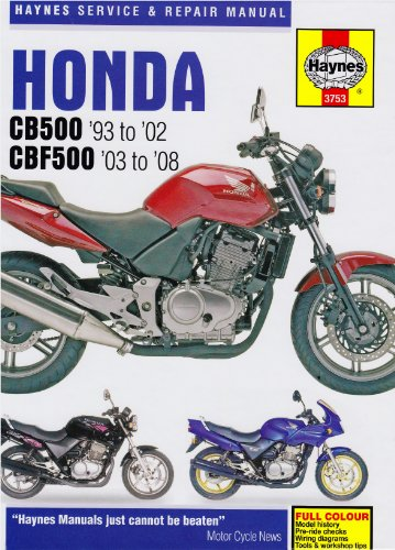 Honda CB500 and CBF500 Twins Haynes Service and Repair Manual homepage image Honda,CB500,CBF500,Service Manual,repair manual