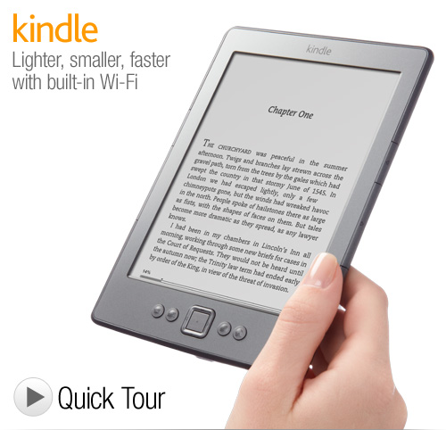 Kindle e-Reader with Wi-Fi homepage image Kindle